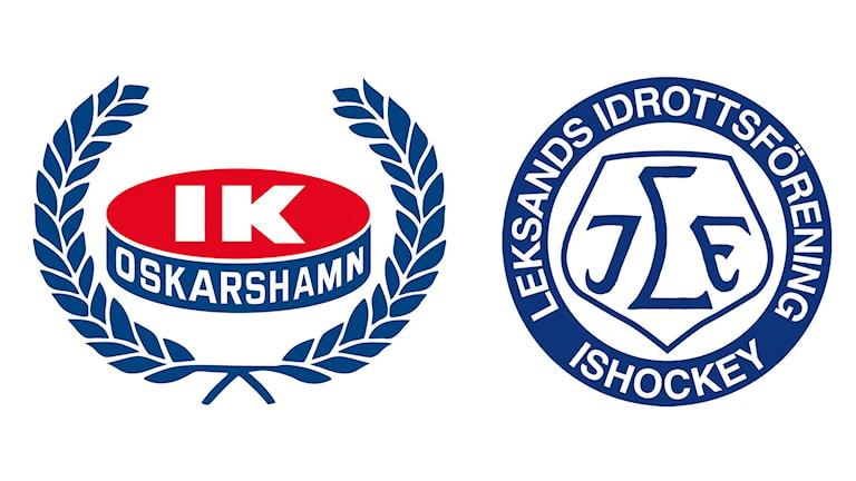 Klubbmärken Oskarshamn och Leksand