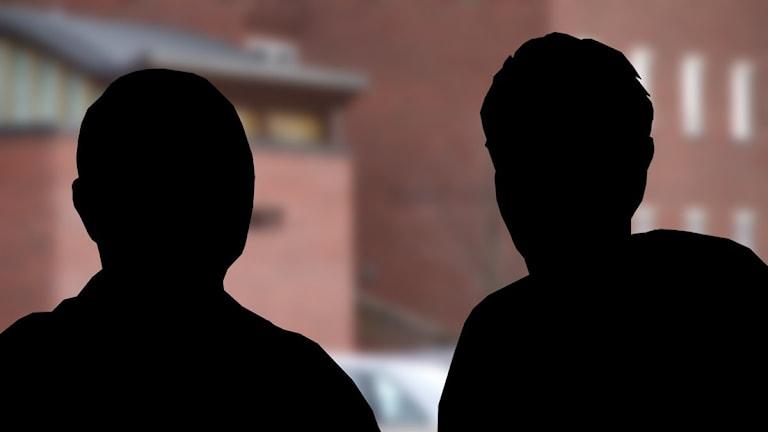 Siluett av två personer. Foto/illustration: Sveriges Radio