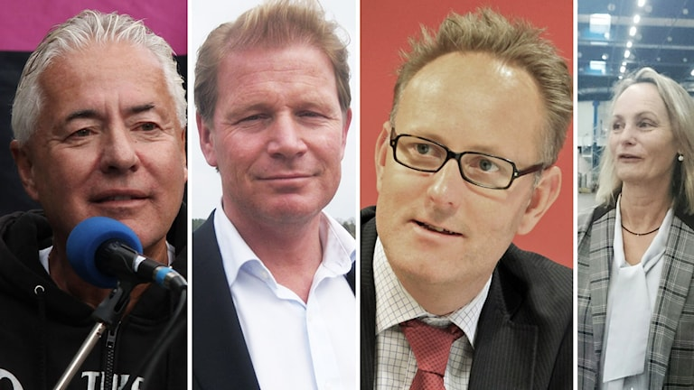 Bo Frank, Harald Hjalmarsson, Johan Persson, Anneli Sjöstedt. Foto: Sveriges Radio