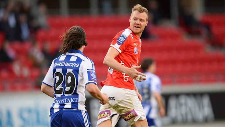 Fotbollsspelaren Marcus Nilsson, då han spelade i Kalmar FF.