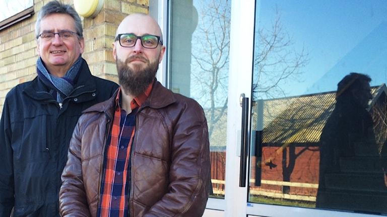 Thomas Svensson och Hans Olausson. Foto: Peter Bressler/Sveriges Radio
