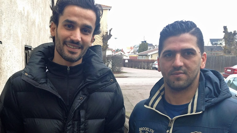 Asylsökande Rami Arouda och Lawand Mattini.