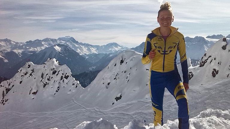 Ida Nilsson tävlar i skidalpinism.