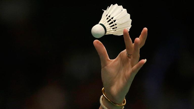 Badmintonboll.