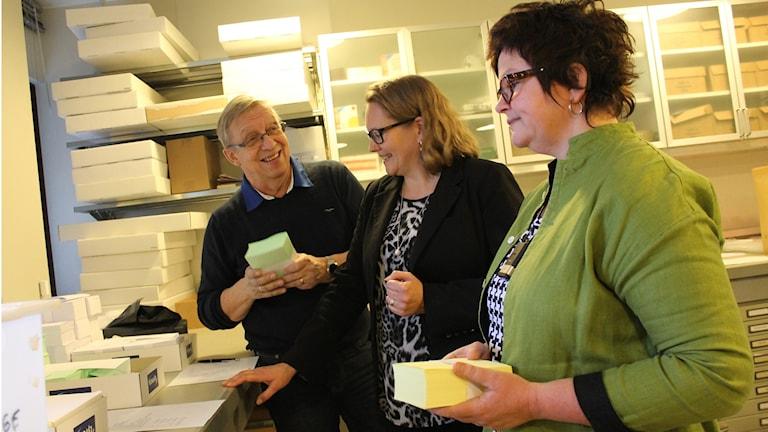 Bengt Westrin, Therese Jigsved, Annika Högberg i valnämndens lokal i kommunhuset.