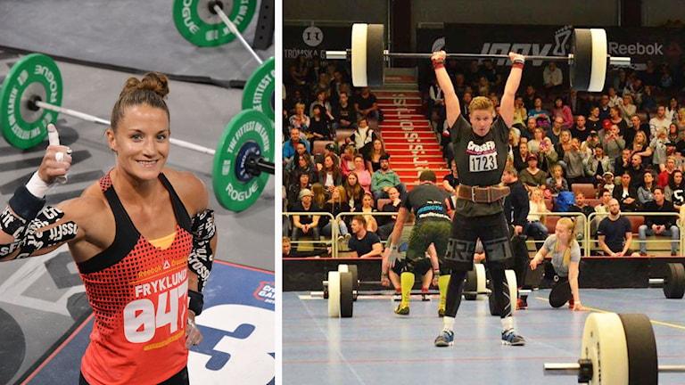 Kollage: Caroline Fryklund och Oscar Tyrberg, som både tävlar i crossfit.