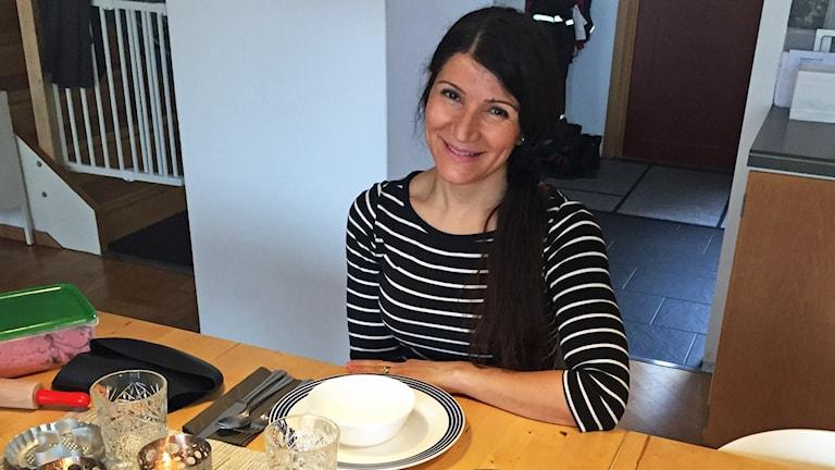 Sara Lindgren, i sitt kök.