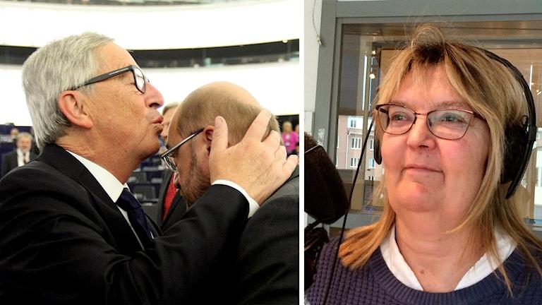 Jean-Claude Juncker och Ylva Nilsson