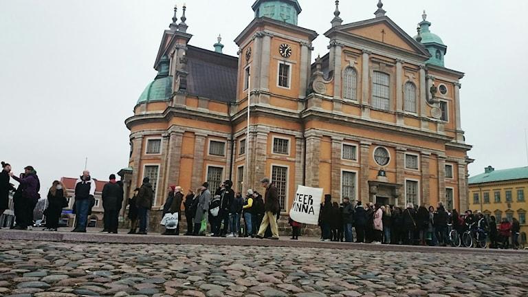 Ta tilbaka Larmtorget-manifestation. Foto Nick Näslund/SR