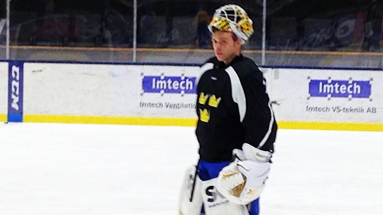 Hockeymålvakten Markus Svensson.