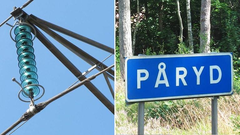 Elledning och Påryd-skylt.
