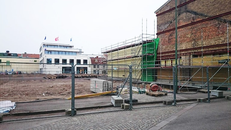 Byggarbetsplats.