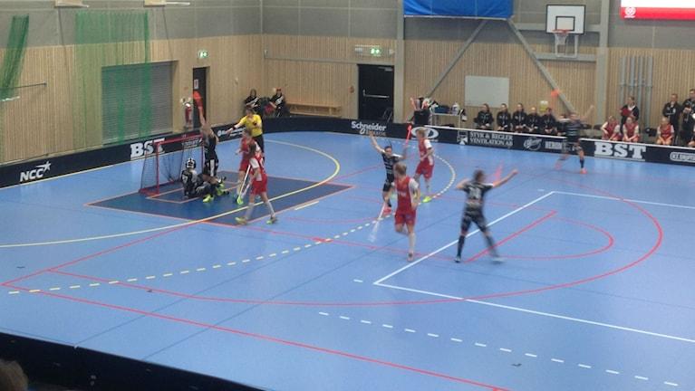 Kalmarsund besegrade Telge i första playoff rundan. Nu väntar Warberg. Foto: Janne Rindstig / SR