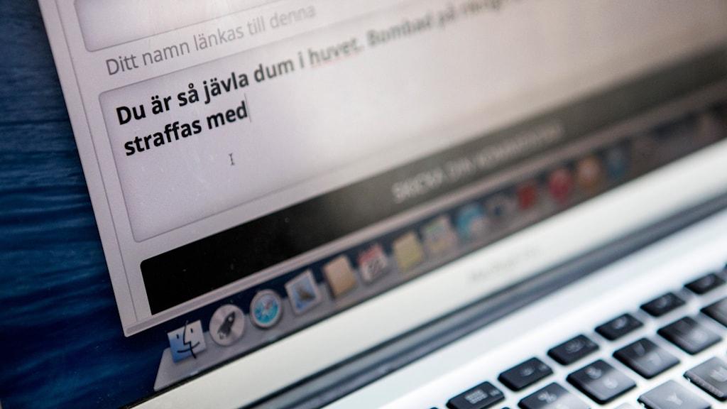 Mobbning på nätet.