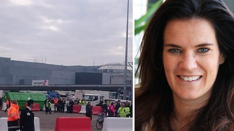 Kollage: flygplatsen Zaventem i Belgien/Anna Benson.