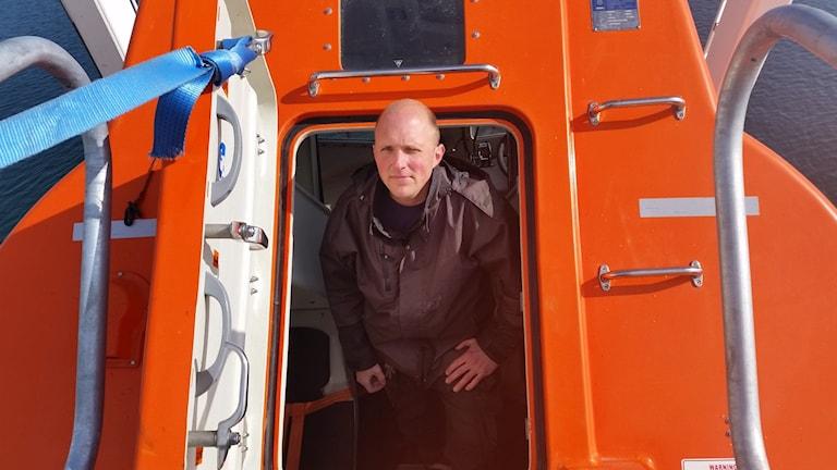Patrick Frick, Sjöfartshögskolan i räddningsbåt