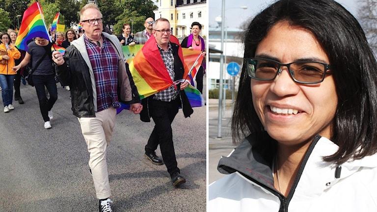 Pridetåg och Jennie Vallin.