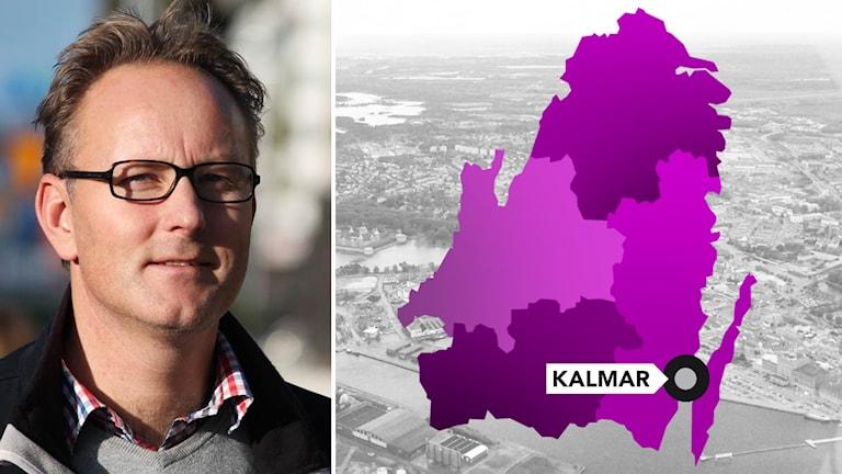 Johan Persson och regionkarta med Kalmar markerat.