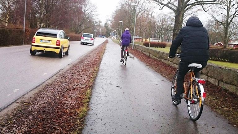 Cyklister.