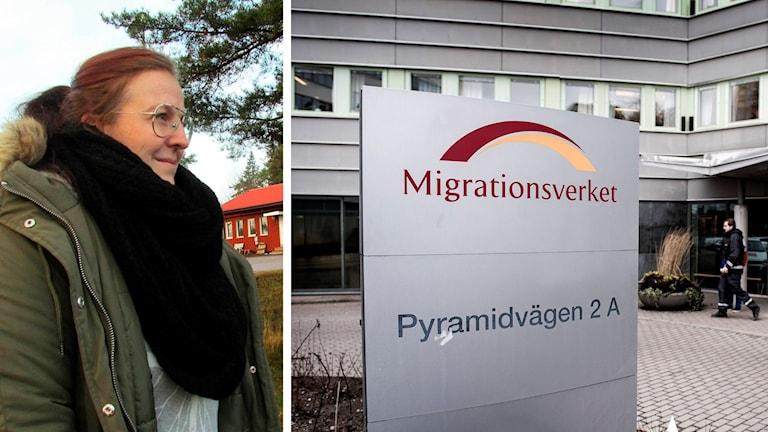 Ann-Louise Mårth och Migrationsverkets kontor.