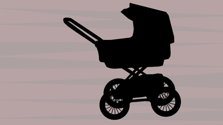 Barnvagn.