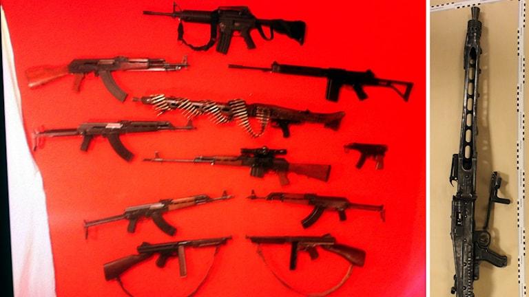 Flera vapen från förundersökningen