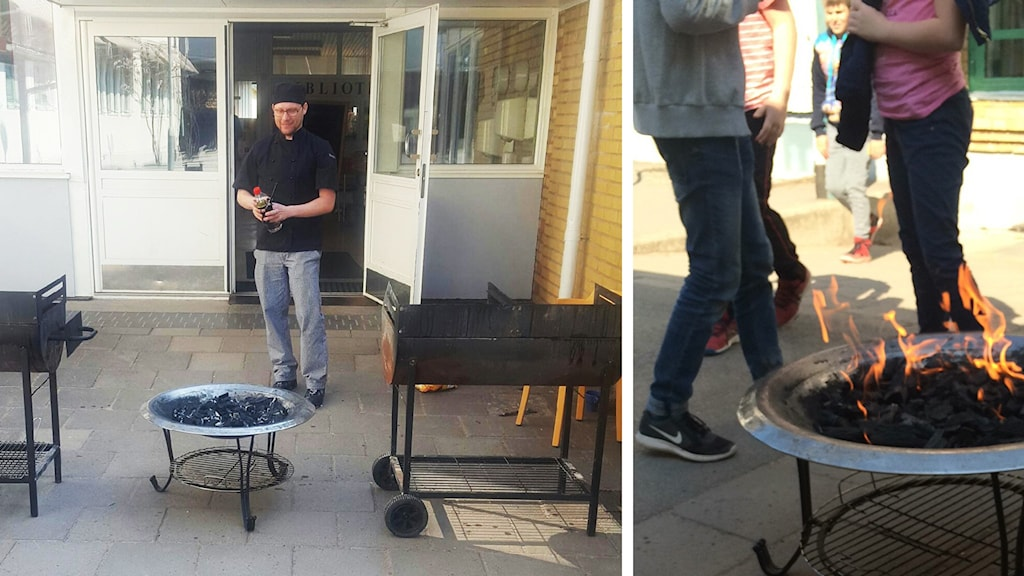 Marcus Pettersson med grillar.
