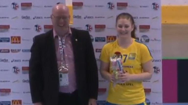 Annie Nilsson blev matchens lirare mot Norge