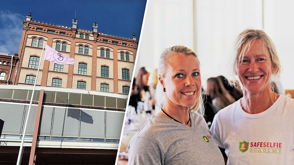 Virena Andersson och Teija Bervokk föreläser under Safe Selfie Academy.