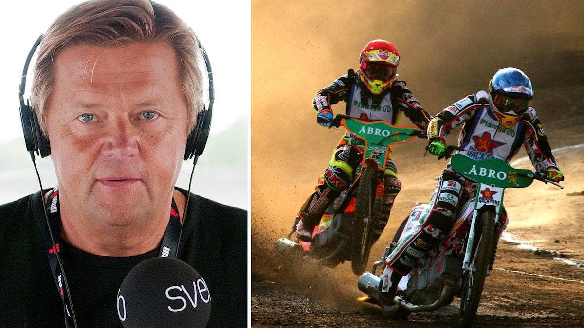 Janne Rindstig och speedwayförare.