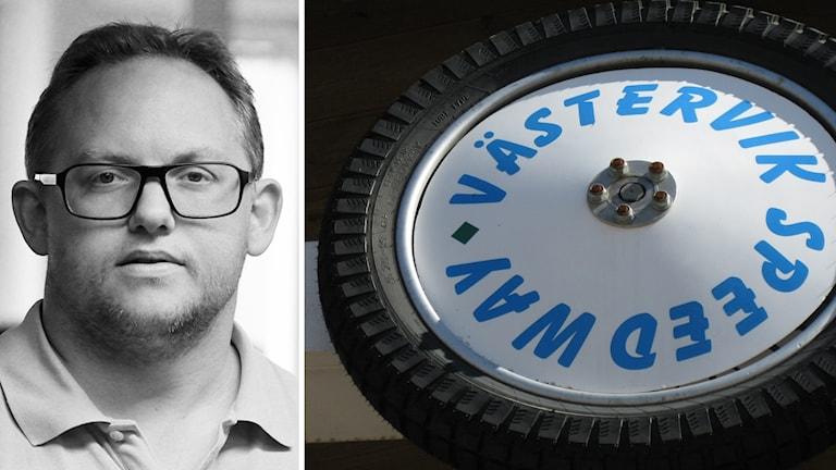 Patrik Wirengård och speedwaydäck.