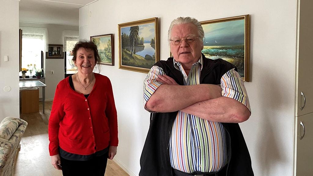 Marie-Louise Helgeson och Lennart Stenkvist som inte ville godkänna Kalmarhems renoveringsplaner.