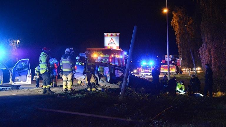 Olycka vid Ängöleden i Kalmar