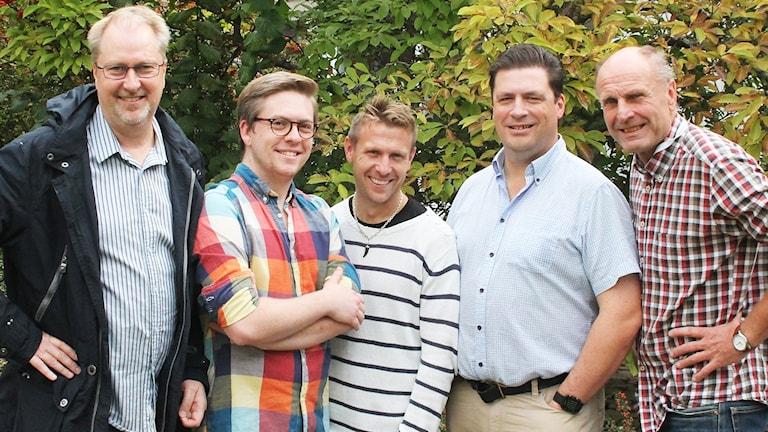 Mats Lindqvist Billmark, Viktor Blomberg, Lucas Nilsson, Magnus Krusell, Bosse Nilsson.