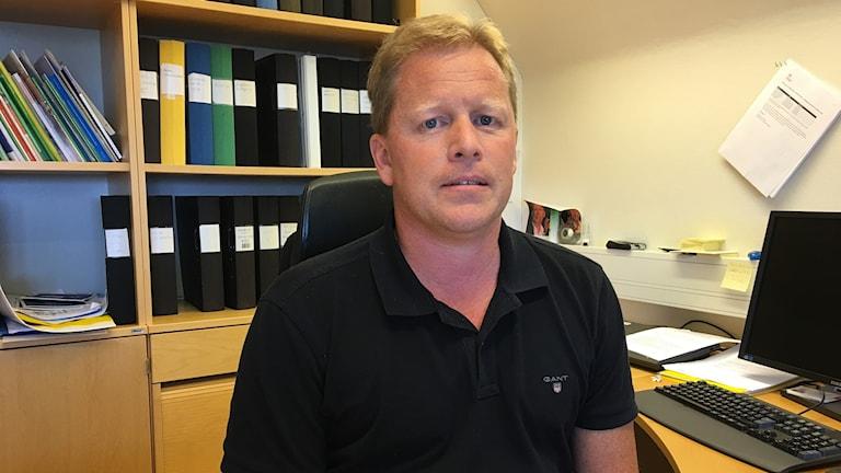 Magnus Sjöstedt på sitt kontor