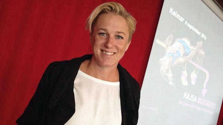 Kajsa Bergqvist, höjdhoppare och föreläsare.