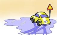 Halka i trafiken. Illustration: Simon Leijnse