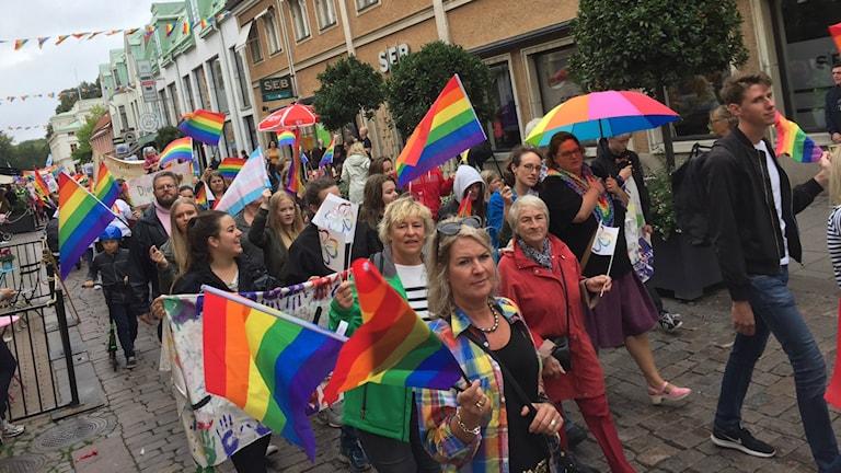 Pridedeltagare.