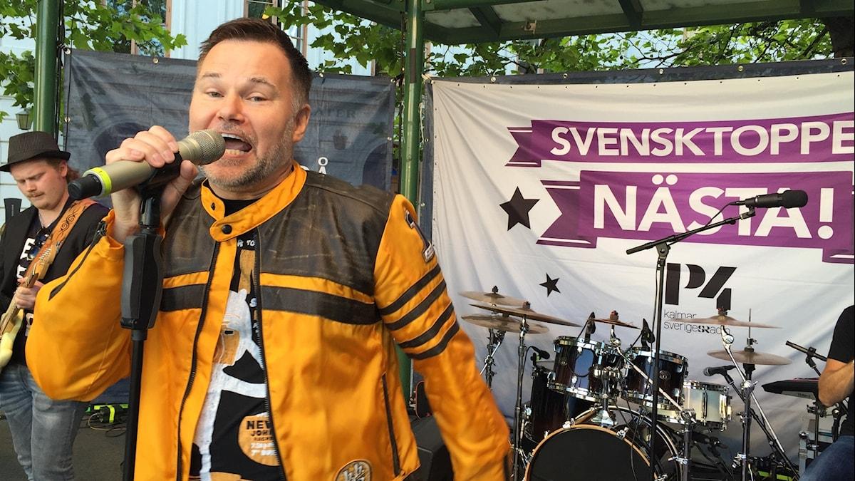 Johan Mauritzson på Larmtorget.