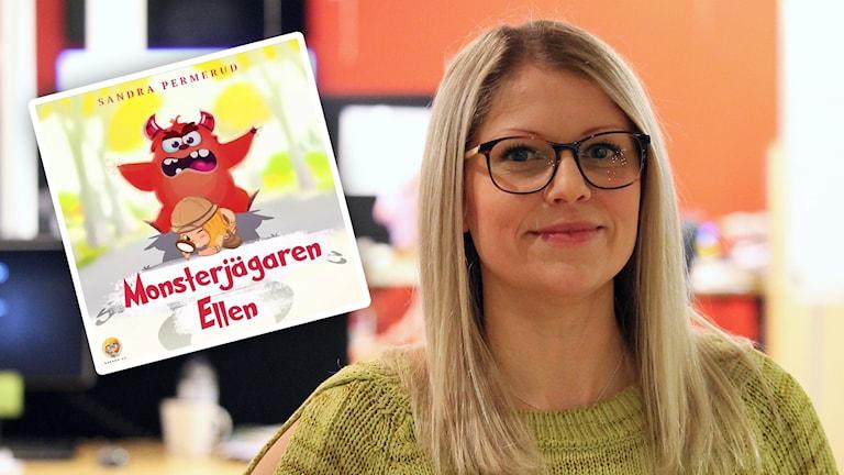 Sandra Permerud är blond, har glasögon och grön tröja.