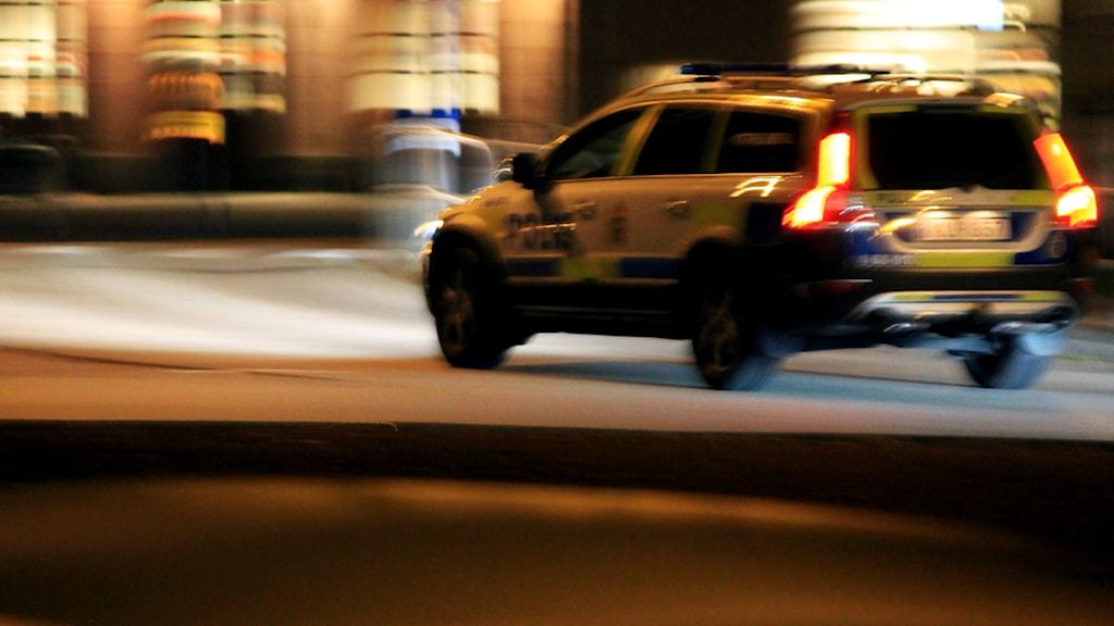 Polisbil. Foto: Nick Näslund/Sveriges Radio