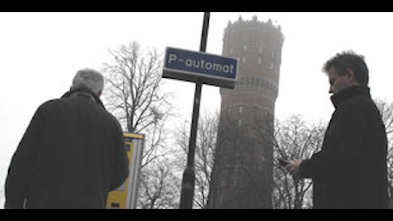 Parkeringsautomat Kvarnholmen. Foto: Simon Leijnse