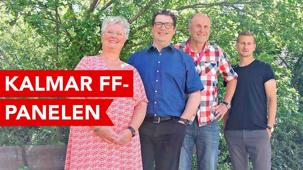 Kalmar FF-panelen bestående av Marie Kittel, Magnus Krusell, Bosse Nilsson och Johan Israelsson.