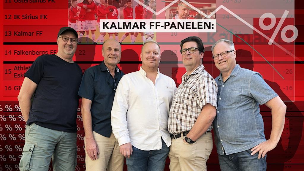 Mats Lindqvist Billmark, Bosse Nilsson, Karl Holst, Magnus Krusell och Mikael Lönnberg.