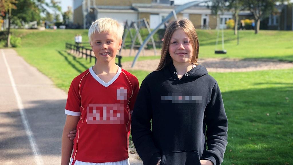 Theo Andersson och Matilda Björneld.