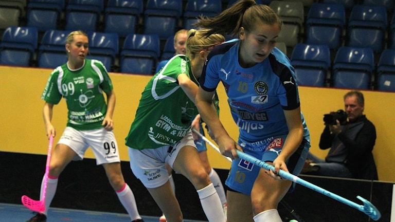 Matea Corkovic gjorde första målet för FBC Kalmarsund i mötet mot Lindome IBK.