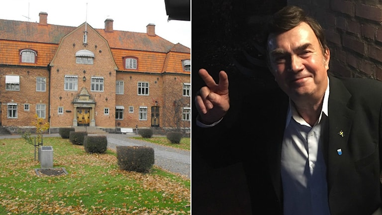 Högsby kommunhus och Leif Gustavsson i SD.