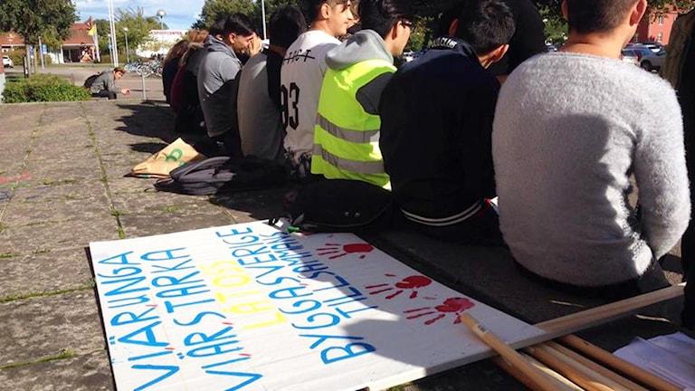 Manifestation i Kalmar mot utvisningar till Afghanistan