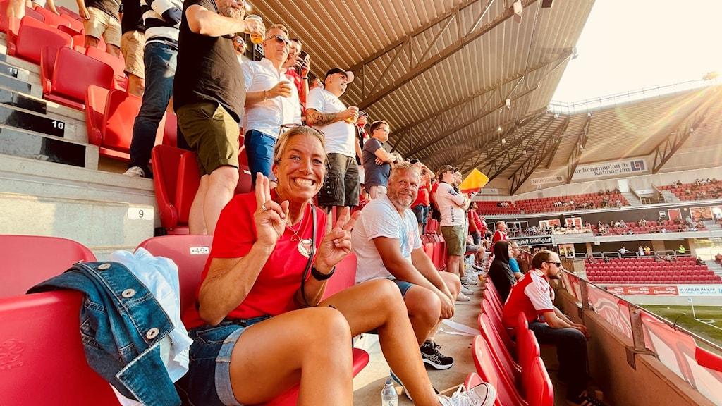 KFF-supportern Malin Johansson