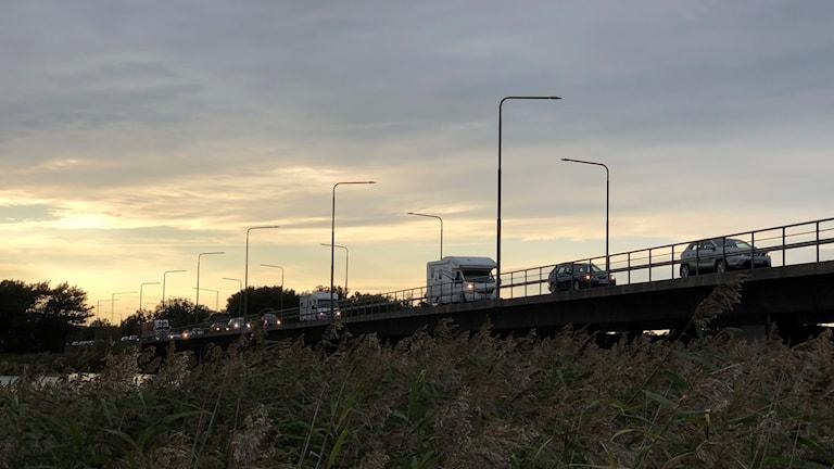 Långa köer vid renovering av Ölandsbron
